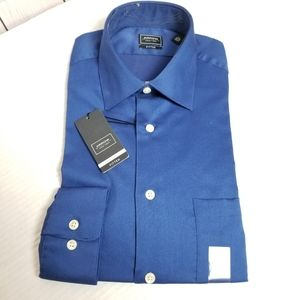 NWT! ARROW fitted blue button down dress shirt